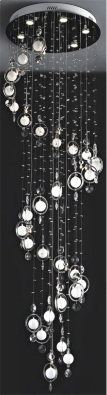 Crystal Ceiling Lamp, C/crystals, Jc/g4 20wx10&led Gu10 3wx6
