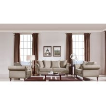 Divani Casa Nadine Transitional Beige Fabric Sofa Set
