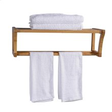"25"" Bamboo Wall Mount Towel Rack"