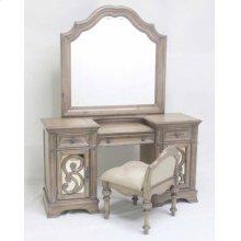 Ilana Warm Oak Vanity Mirror