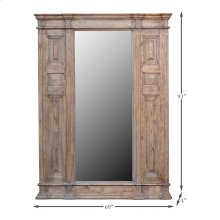Paneled Wall Mirror, 8 Ft X 6 Ft