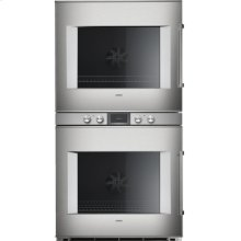 """400 double oven BX 481 610 Stainless steel-backed full glass door Width 30"""" (76 cm) Left-hinged Controls centered"""