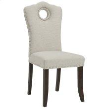 Elise Side Chair in Walnut & Beige