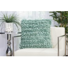 "Shag Dl058 Celadon 20"" X 20"" Throw Pillows"