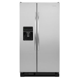 Amana® 35.5-inch Wide Amana® Side-by-Side Refrigerator with Gallon Door Storage Bins -- 24 cu. ft. Capacity - Stainless Steel