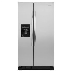 AmanaAmana® 35.5-Inch Wide Amana® Side-By-Side Refrigerator With Gallon Door Storage Bins -- 24 Cu. Ft. Capacity - Stainless Steel