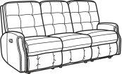 Devon Leather Reclining Sofa with Nailhead Trim