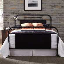 King Metal Bed - Black