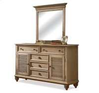 Coventry Shutter Door Dresser Weathered Driftwood finish Product Image