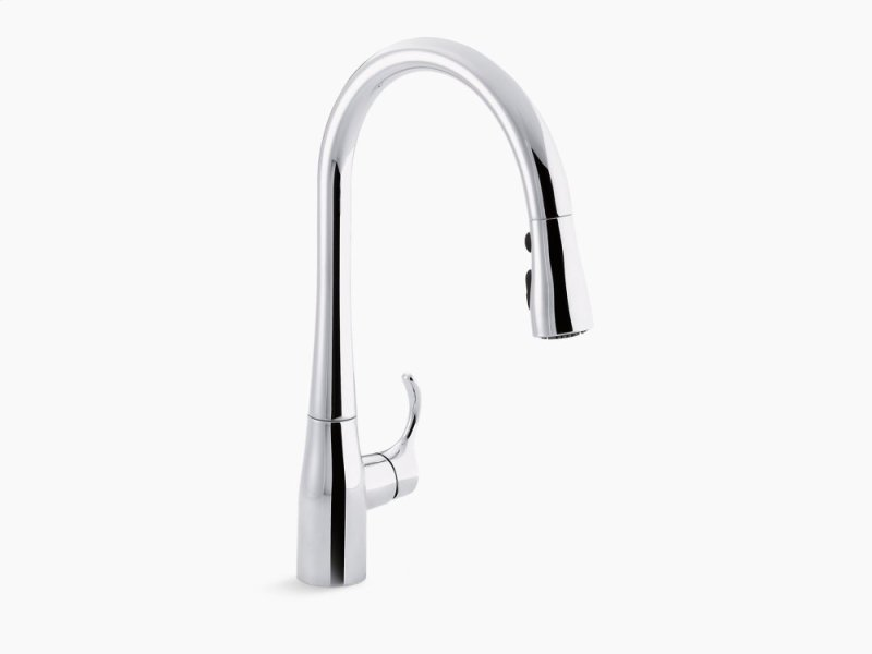 Polished Chrome Single Hole Or Three Kitchen Sink Faucet With 16 5