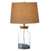 Fillable Jar Table Lamp. 60W Max. Seaglass not Included.