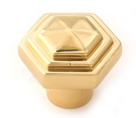 Geometric Knob A1535 - Polished Brass