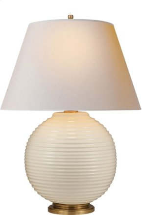 Visual Comfort AH3105I-NP Alexa Hampton Hugo 26 inch 100 watt Ivory Ceramic Decorative Table Lamp Portable Light