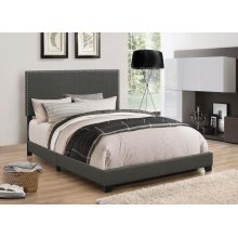 Boyd Upholstered Charcoal King Bed