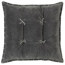 Talia Velvet Pillow, GRAY, 20X20