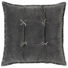 Talia Velvet Pillow, GRAY, 20X20