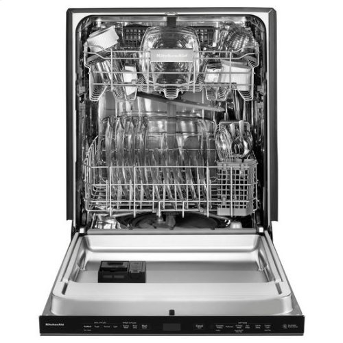 KitchenAid® 44 DBA Dishwashers with Clean Water Wash System and PrintShield™ Finish, Pocket Handle - PrintShield Stainless