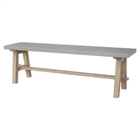 """Boston 59"""" Bench """"A"""" Base with Concrete Top, Brushed Smoke"""