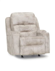 Triple Power Rocker Recliner w/Wand, Lights, Cupholders, Dual Arm Storage and QI Puck Charger