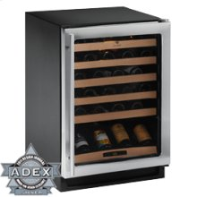 """Stainless Field reversible 2000 Series / 24"""" Wine Captain® / Single Zone Convection Cooling System"""