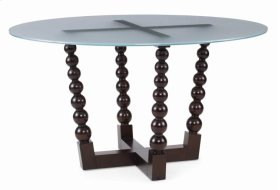 Bobbin Dining Table With Frosted Glass Top
