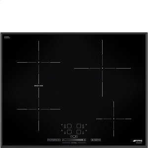 """Smeg65 CM (approx. 26""""), Induction cooktop, black, standard building type. For Canada only"""