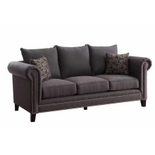 Emerson Transitional Charcoal Sofa