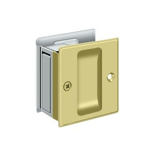 "Pocket Lock, 2 1/2""x 2 3/4"" Passage - Polished Chrome"