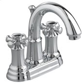 Portsmouth 2-Handle 4 Inch Centerset High-Arc Bathroom Faucet with Cross Handles - Polished Chrome