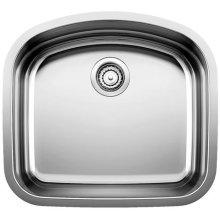 Blancowave Single Bowl (bowl Depth 10'') - Satin Polished Finish
