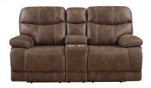 Emerald Home Earl Motion Love W/console Sanded Micro Brown U7128-09-15