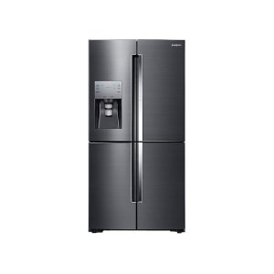 Samsung Appliances22 cu. ft. Food Showcase Counter Depth 4-Door Flex™ Refrigerator with FlexZone™ in Black Stainless Steel