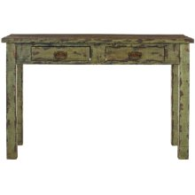 Carl 2 Drawer Console - Antique Green