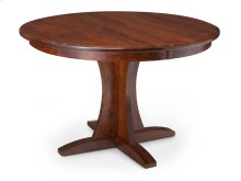 Grace Single Pedestal Table, Solid Top