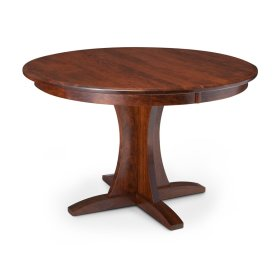 "Grace Single Pedestal Table, 18"" Butterfly Leaf"
