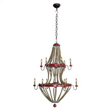 Lanyard 2 tier chandelier