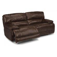 Fleet Street Leather Power Reclining Sofa