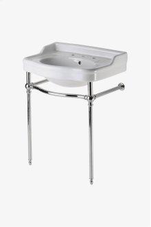 "Palladio Metal Round Two Leg Single Washstand only 26"" x 18 1/2"" x 30 1/2"" STYLE: PAWS47"