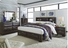 King Storage Bed, Dresser & Mirror, Chest, NS Product Image