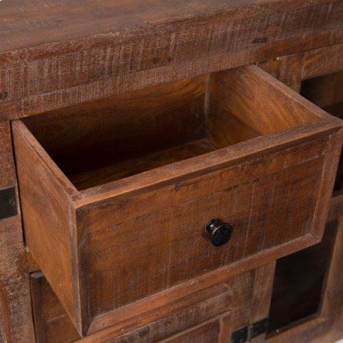 Mango Wood Mobile Sideboard