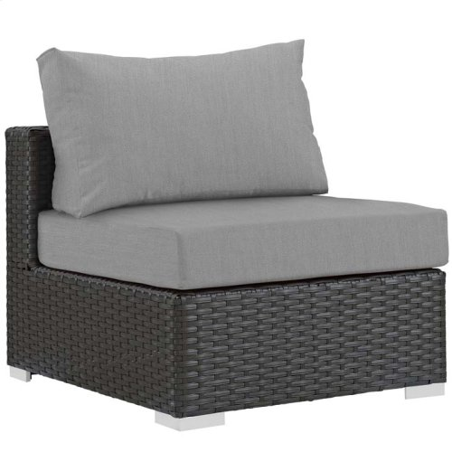 Sojourn 10 Piece Outdoor Patio Sunbrella® Sectional Set in Canvas Gray