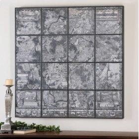 Antique Paris Map