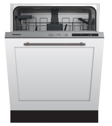 "24"" Standard height dishwasher 5 cycle top control fully integrated panel overlay 48 dBA"