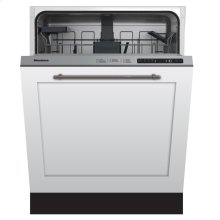"""24"""" Standard height dishwasher 5 cycle top control fully integrated panel overlay 48 dBA"""