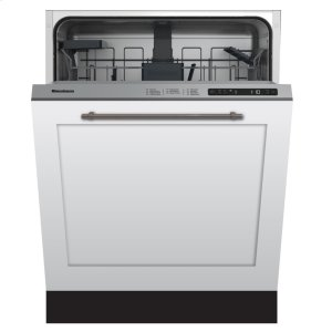 "Blomberg24"" Standard height dishwasher 5 cycle top control fully integrated panel overlay 48 dBA"