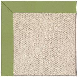 Creative Concepts-White Wicker Canvas Citron Machine Tufted Rugs