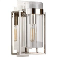 Visual Comfort S2167PN-CG Ian K. Fowler Presidio 1 Light 8 inch Polished Nickel Wall Sconce Wall Light