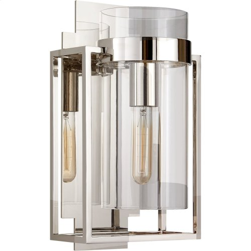 Visual Comfort S2167PN-CG Ian K. Fowler Presidio 1 Light 8 inch Polished Nickel Wall Sconce Wall Light