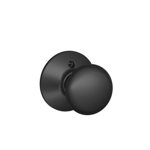 Plymouth Knob Non-turning Lock - Matte Black