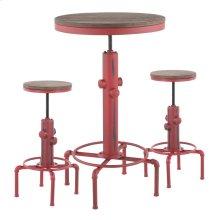 Hydra Bar Set - Vintage Red Metal, Brown Bamboo